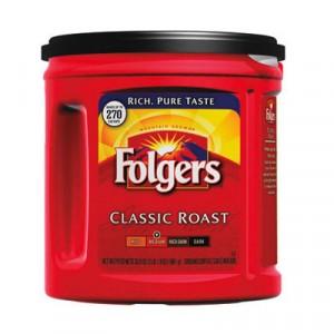 Coffee, Classic Roast Regular, Ground, 33.9 oz., Can