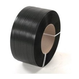 Strapping Polyester .5x.028x6500' 820# Black 16x6 28/PLT