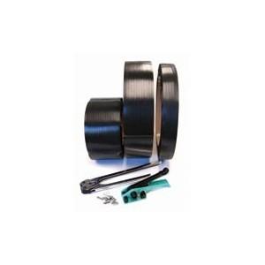 Strapping Polyester .500x.025x2900' 775# Black 16x3 2/CS