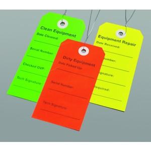 Tags Equipment Clean Green 2.3125x4.73