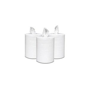 Towel Center Pull 7.6x15 600' 2Ply White Sheet 6RL/CS 55/PLT