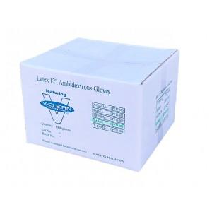 "V-Clean 12"" Latex Cleanroom Gloves (1,000 gloves per case)"