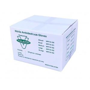 "V-Clean 10"" Nitrile Cleanroom Gloves (1,000 gloves per case)"